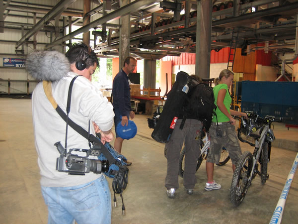 Visit Britain, Irish film shoot at Nevis Centre, Glencoe
