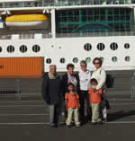 Canary Islands family, cruise ship tour, Greenock