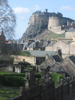 Edinburgh Castle  from the Elephant Cafe